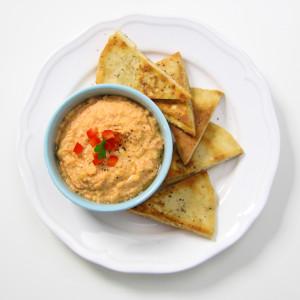 chips de pita et humus