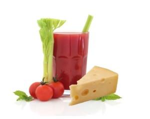 jus de légumes et fromage