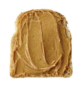 pain et beurre d'arachide ou beurre d'amande