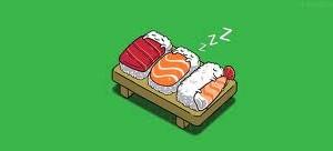 sushi sleeping