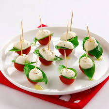 tomatoes and bocconcini