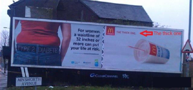 macdonald publicité mal placée ou bien