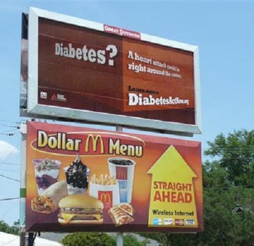 mauvais placement de publicité