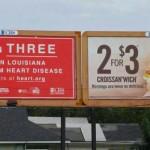 Publicités mal placées qui finalement, pour certaines, font passer un bon message…
