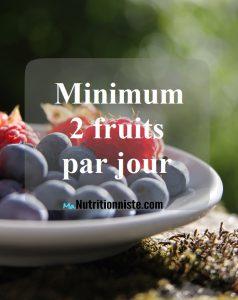 fruits et légumes recommandation par jour