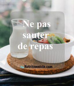 ne pas sauter des repas ca ne sauve pas des calories