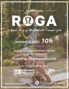 ROGA - Stdenis Lululemon YOGA @ Mont Royal   Mont-Royal   Québec   Canada